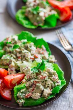 Mexican Chicken Salad Lettuce Cups | healthyseasonalrecipes.com #primal #saladmonth