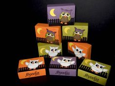 Halloween Matchbox Owl Punch Treat Boxes by bzimmer - Cards and Paper Crafts at Splitcoaststampers