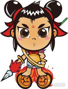 三太子 Wave Drawing, Chinese Element, Chinese Mythology, Spiritual Warrior, Kawaii Doodles, Buddhist Art, Designer Toys, Japanese Art, Buddhism
