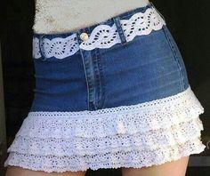 Good way to make short skirts longer