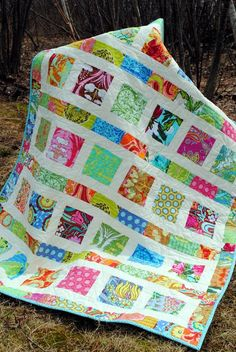Cute charm quilt. who needs a pattern? (the size would have been ... : charm quilt patterns easy - Adamdwight.com