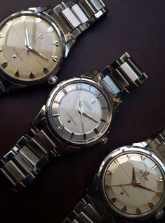 omegaforums: Trio Of Vintage OMEGA Constellation Chronometers In Stainless Steel Circa 1950s - http://omegaforums.net