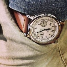 Langhe & Sohne 1815 chronograph in white gold. Sharp Dressed Man, Well Dressed Men, Breitling, Cool Watches, Watches For Men, Men's Watches, Rolex, Gq Men, Leather Watch Bands