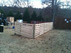 Image detail for -pallet fence before