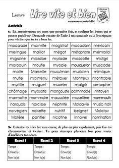 Fiche d'entraînement en lecture oralisée (marron) à personnaliser avec les mots des fiches de lecture par exemple... Reading Centers, Reading Activities, Reading Comprehension, Read In French, Learn French, French Class, French Teaching Resources, Teaching French, Guided Reading Organization