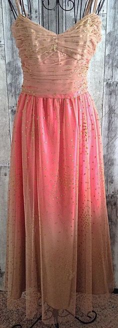 Papell Boutique Evening Sparkle Metallic Ombre Ruched Gown Lined Formal Size 8 #PapellBoutique #Gown