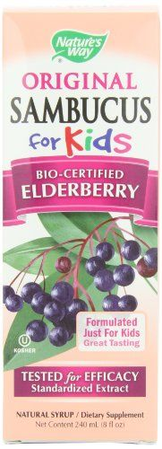 Nature's Way Sambucus for Kids Bio-certified Elderberry, 8-Ounce