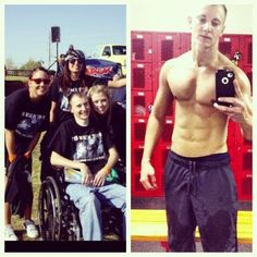Kevin Smith was in a wheelchair from multiple sclerosis, and weighed only 115 lbs. After hitting the iron and changing his diet he is feeling better and currently experiencing no signs of MS.