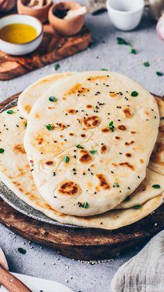 Simply Recipes, Dairy Free Recipes, Veggie Recipes, Indian Food Recipes, Vegetarian Recipes, Cooking Recipes, Vegan Naan, Quick Easy Vegan, Going Vegan
