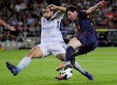 Messi | disputando ardientemente el balón. FC Barcelona 2-0 Granada 22.09.12.