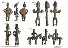 Ancient bronze anthropomorphic plastic - Caucasus