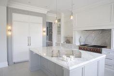 Statuario Marble Kitchen Countertops, Contemporary, Kitchen