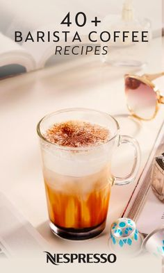 With over 40 different Nespresso recipes to choose from, you can enjoy a differe. Milk Recipes, Coffee Recipes, Iced Mocha Recipe, Coconut Latte Recipe, Different Coffee Drinks, Nespresso Recipes, Coffee Cheesecake, Caramel Latte, Coffee Time