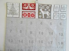 Christmas Advent Calendar/ READY To SHIP/ by aLittleFrayed on Etsy
