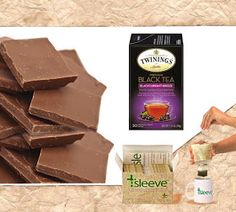 Black Tea + Milk Chocolate, Chocolate pairs with tea famously! The art of pairing tea with chocolate, amplifying the flavor of one with another is simply elegant. Find more pairings at: http://www.tsleeveblog.com/2017/02/chocolate-tea-pairings-for-valentines.html