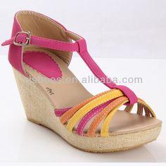 Girl stylish strip wedge heel sandals $2.5~$5