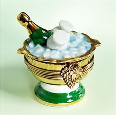 Limoges Champagne Bucket with Ice and Bottle Box.