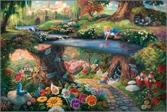 Thomas Kinkade - Alice in Wonderland - Classics Collection