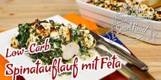 Spinatauflauf mit Feta und Hähnchenbrust. Low Carb Pizza, Low Carb Keto, Feta, A Food, Food And Drink, Eat Smart, Easy Chicken Recipes, Superfood, Soul Food