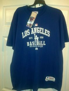 Authentic MLB, Los Angeles Dodgers, Majestic  Shirt, Size XL. Adult ***NEW*** #Majestic #LosAngelesDodgers