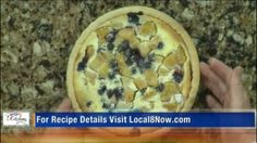 Peachy Blueberry Custard Pie