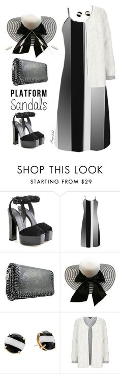 """Platform Sandals"" by ragnh-mjos ❤ liked on Polyvore featuring Giuseppe Zanotti, Kate Spade and Topshop"