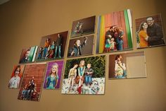 Photo wall without frames