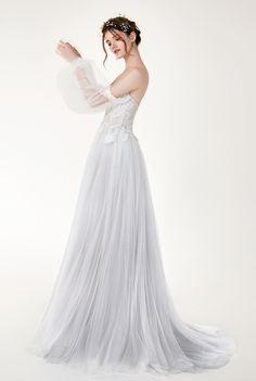 Penelope - BRIDAL - Chic Nostalgia - Bohemian and Romantic Wedding Dresses Wedding Dress Styles, Boho Wedding Dress, Designer Wedding Dresses, One Shoulder Wedding Dress, Unique Dresses, Stunning Dresses, Dresses For Work, Morgan Davies Bridal, Bridal Gowns