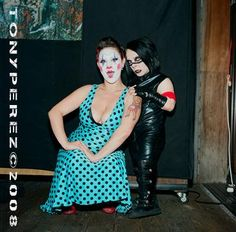 Dottie Lux and Nik Sin, Clown and Mini Marilyn Manson