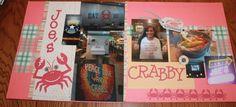 Scrapbooking layout, Joe's crab shack Orlando Florida