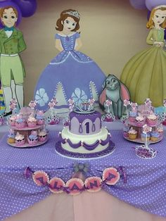 Sofia the First Birthday Party Ideas doğum günü Princess Sofia Birthday, Sofia The First Birthday Party, Disney Princess Party, First Birthday Parties, Birthday Party Themes, Girl Birthday, First Birthdays, Birthday Ideas, Tea Party Invitations