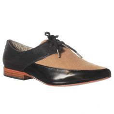 Matt Bernson Darby Oxford Flat - Black Box Camel Wool $169
