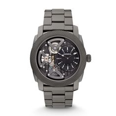Fossil Machine Twist Stainless Steel Watch – Smoke ME1128 | FOSSIL®