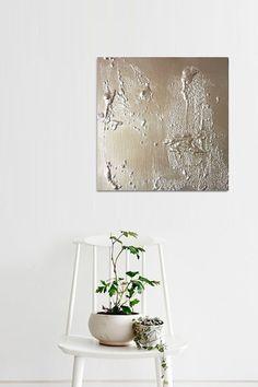 Original abstrakt Gold Keiko im minimalistischen Kunst von toupan9