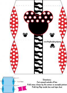 Mickey Favor Box, Mickey Mouse, Favor Box - Free Printable Ideas from Family Shoppingbag.com