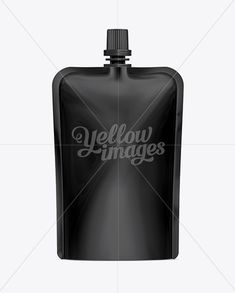 Doy-Pack With Top Cap Spout 03 Black Mockup