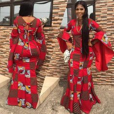 The complete collection of Exotic Ankara Gown Styles for beautiful ladies in Nigeria. These are the ideal ankara gowns African Dresses For Women, African Print Dresses, African Print Fashion, Africa Fashion, African Attire, African Fashion Dresses, African Wear, African Women, Ankara Fashion