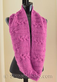 """#178 Rose Cabled Circular Scarf by SweaterBabe - UNTIL 12/31/15 ONLY, this is a FREE Pattern Pick from SweaterBabe. Just """"buy it now"""" to see $0 sale price. For future Pattern Picks, please sign up for emails."""