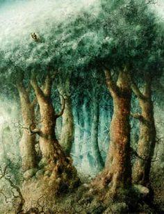 Illustration Pavel Čech Contemporary Art Daily, Contemporary Artists, Book Illustration, Illustration Children, Whimsical Art, Childrens Books, Painted Trees, Artwork, Painting
