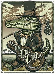 Eddie Vedder Poster / Orlando / Pearl Jam