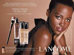 LUPITA NYONG'O | LANCÔME TEINT IDOLE UlLTRA 24H FOUNDATION ,2014 ADVERTISEMENT