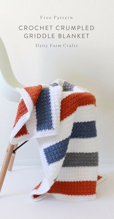 Free Pattern - Crochet Crumpled Griddle Blanket - Before After DIY Crochet Afghans, Afghan Crochet Patterns, Baby Blanket Crochet, Crochet Stitches, Knitting Patterns, Crochet Blankets, Easy Knit Blanket, Blanket Yarn, Crochet Home