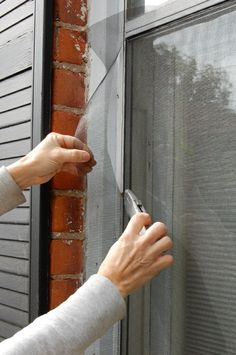 How to replace old window screens  ... guess I need to do this now that the doggie went through ours!