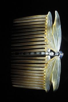 Art Nouveau Hair Comb by Lucien Gallard.