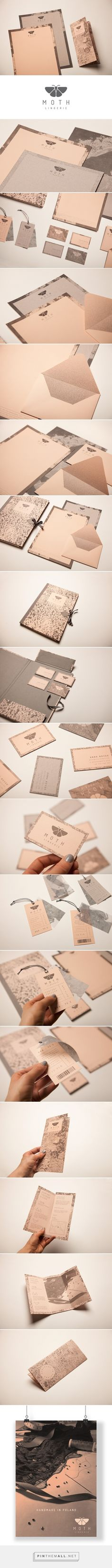 MOTH Lingerie Branding by Katarzyna Wieteska on Behance Brand Identity Design, Stationery Design, Graphic Design Typography, Graphic Design Illustration, Branding Design, Fashion Logo Design, Fashion Branding, Branding Agency, Photography Logos