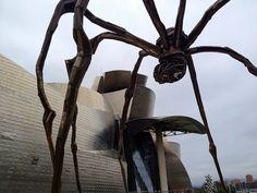 Spider Sculpture Bilbao Guggenheim by Tonyfoster, via Flickr