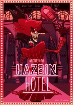 Hazbin Hotel is a comedy/musical adult animated series created by Vivienne Medrano. Steven Universe, Vocaloid, Monster Hotel, Misty Eyes, Hazbin Hotel Angel Dust, Alastor Hazbin Hotel, Hotel Trivago, Vivziepop Hazbin Hotel, Night Aesthetic