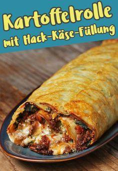 Huiuiui, gib dir mal bitte diese Kartoffelrolle mit Hack-Käse-Füllung