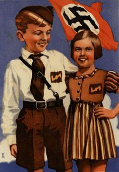 "As part of Hitler's program to reshape German minds, the children of the regime were indoctrinated from a very early age. They were taught to focus on external ""enemies"" like Jews and communists, to believe in the pseudoscience of eugenics, to live up to German physical ideals, and to take pride in the German race."