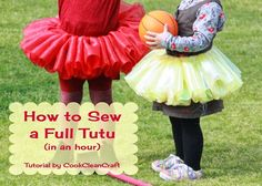 I used this to make my first sewn tutu and it was super easy!